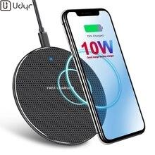Udyr 10 Вт Qi Беспроводное зарядное устройство для samsung Galaxy S10 S9/S9+ S8 Note 9 USB быстрая зарядка для iPhone 11 Pro XS Max XR X 8 Plus