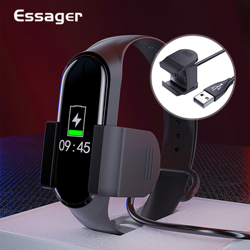 Essager USB Charger For Xiaomi Mi Band 4 Dock Clip Fast Charging Cable For Xiaomi Miband 4 Mi Band4 Cord Adapter Accessories fast charging dock stand with 1m usb charger dock cable for fossil gen 5 4 for fossil hybrid charging cable accessories