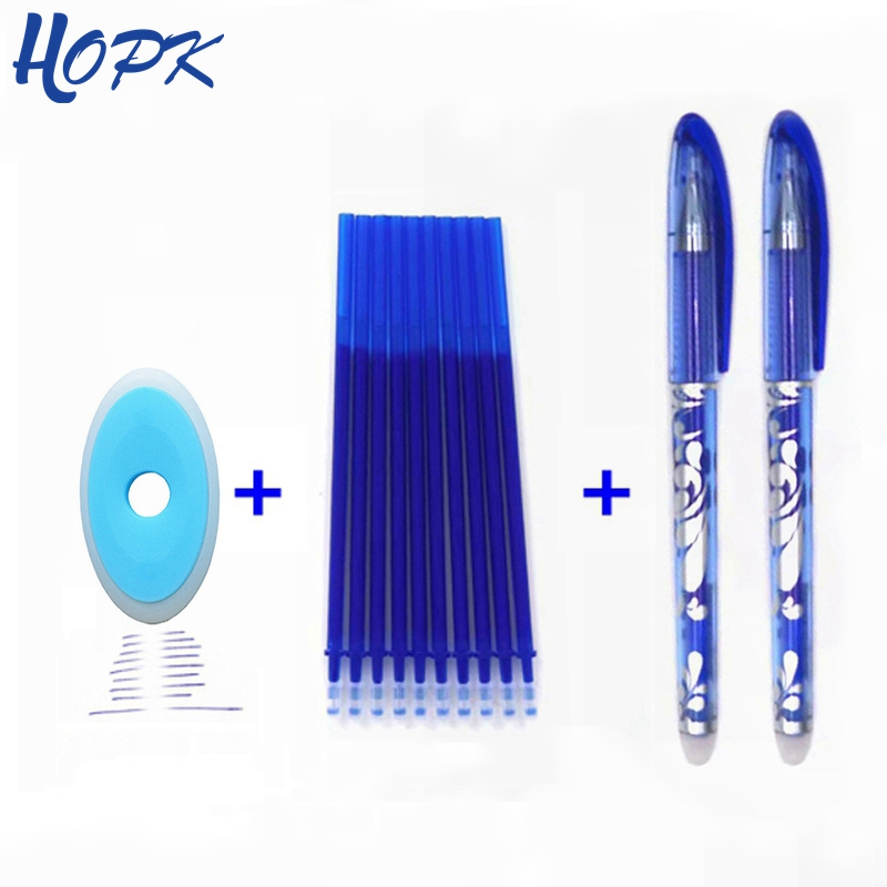 Erasable <font><b>Pen</b></font> Set Washable handle Blue Black Color Ink Writing <font><b>Ballpoint</b></font> <font><b>Pens</b></font> for School Office Stationery Supplies Exam Spare image