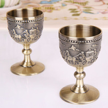 Goblet Wine-Cup Metal Drinkware Classical Household Creative Small Copper Handmade Carving-Pattern