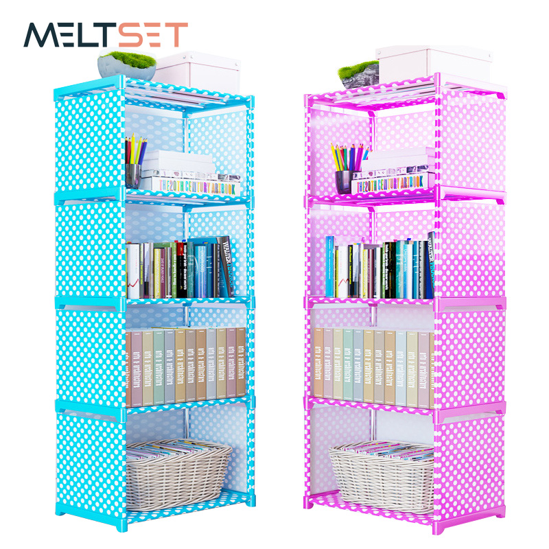 4/5/6 Layer Simple Bookshelf Easy Assembled Storage Shelf For Books Floor Standing Bookcase Storage Cabinet Home Organizer