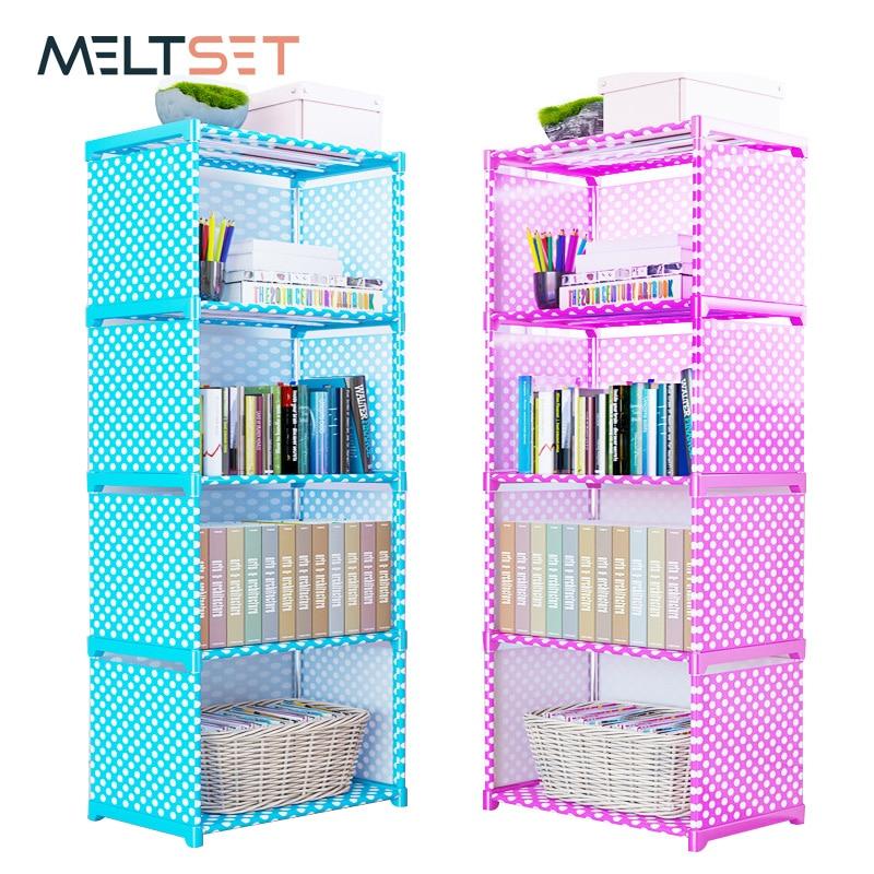 4/5/6 Layer Simple Bookshelf Easy Assembled Storage Shelf For Books Floor Standing Bookcase Storage Cabinet Home Organizer