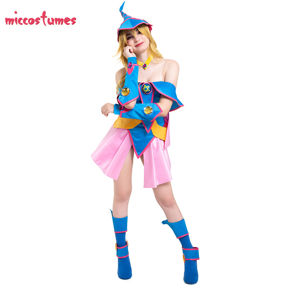Magician Girl Costume Yu-Gi-Oh Cosplay With Hat