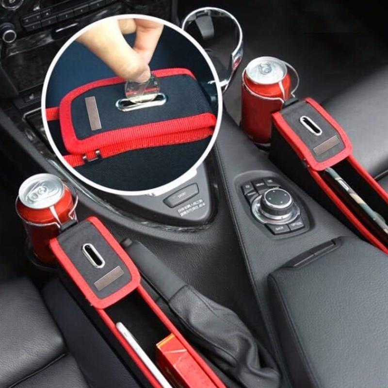Автомобильный органайзер, ящик для хранения, кожаный чехол для сиденья, карман для автомобильного сиденья, Боковой разрез, для телефона, для монет, сигарет, универсальный держатель для чашки|Ящики и баки для хранения|   | АлиЭкспресс - Car Organizer