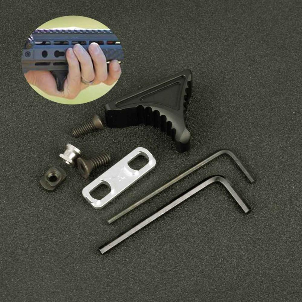 Tactical Keymod M-LOK Handstop Kit Angeled Foregrip Accessories with Guide Rail Tactical Handguard for AR15 Gun Accessories(China)