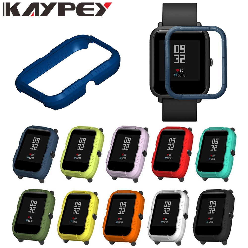 Protective Case For Xiaomi Amazfit Bip Youth Watch Hard PC Cover Shell Frame Bumper Protector For Amazfit Bip Bit Accessories