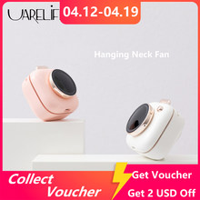 Uareliffe Hanging Neck Fan Mini Cute Pocket Camera Fans Rechargeable Air Cooler Mute 3 Speed Portable Waist Fan For Outdoor
