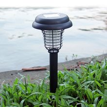 Solar Powered UV Moskito-killer Insekten Pest Wespe Bug Zapper Mörder Im Freien Garten Rasen LED Licht Lampe für Gute Sleepping(China)