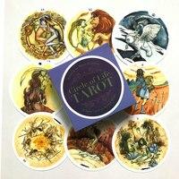 Juego de cartas del Tarot, 78 tarjetas del círculo de la vida, guía del Tarot inglés, juego de mesa mágico, juego de adivinación del destino