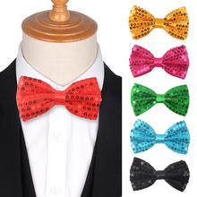 Party Bowties for Men Women Sequins Bow tie Tuxedo Adjustable Girls ties For Wedding Accessories Butterfly Cravat