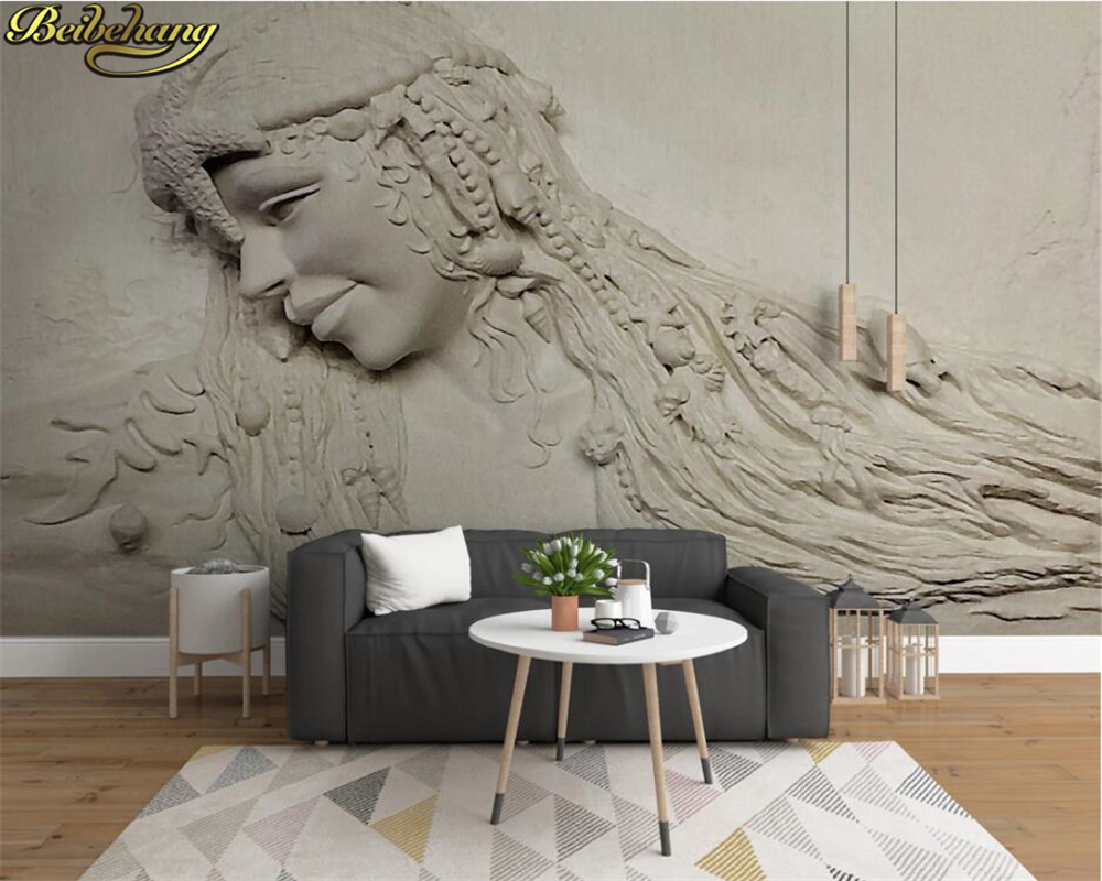 beibehang Custom <font><b>wall</b></font> <font><b>paper</b></font> mural <font><b>3D</b></font> three-dimensional relief <font><b>sexy</b></font> beauty background <font><b>wall</b></font> papel de parede <font><b>3d</b></font> wallpaper image