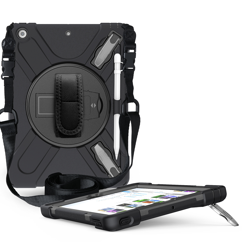 black Beige Case for iPad 10 2 Heavy Armor Kids Shokproof Cover A2197 A2198 A2200 A2270 A2428 A2429
