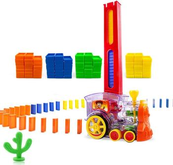 Zhenwei Domino pociąg klocki Domino zestaw budynku i układania klocki zabawki dla dzieci Domino układanie pociągu Domino pociąg do składania tanie i dobre opinie Keep Away from the fire BN174580 Transport 8 ~ 13 Lat 2-4 lat Z tworzywa sztucznego