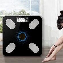 Bluetooth-весы напольные весы для тела весы для ванной смарт-дисплей с подсветкой солнечные электронные весы для тела мышечная масса BMI