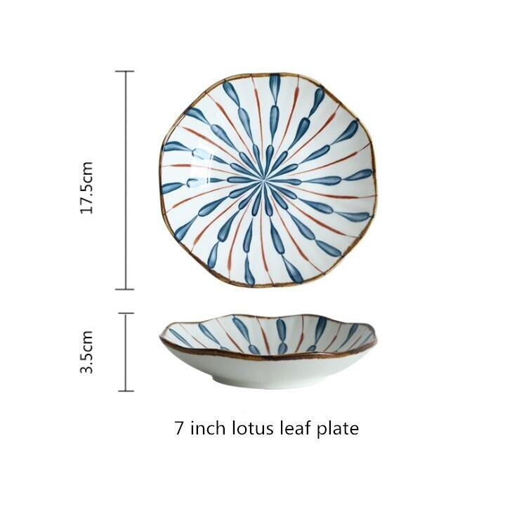 7inch leaf plate