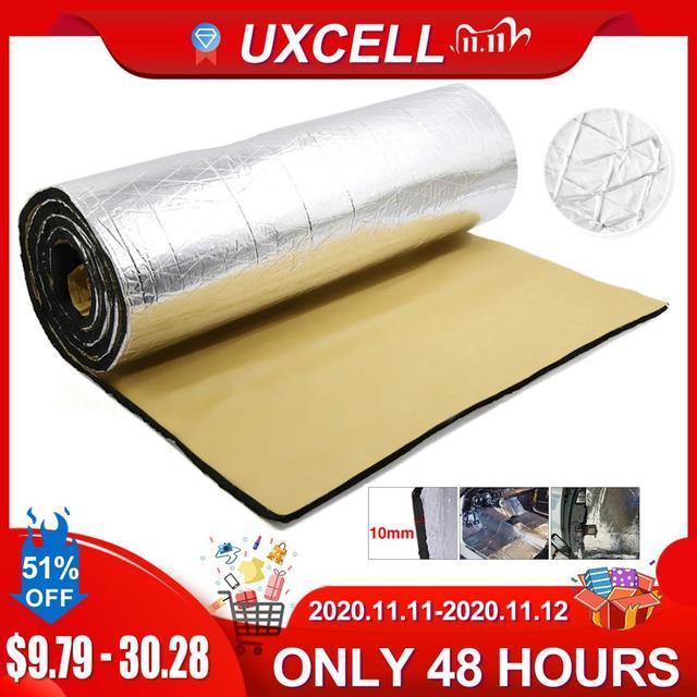 UXCELL 10mm Thick Aluminum Fiber Muffler Cotton Car Auto Fender Heat Sound Deadener Insulation Mat