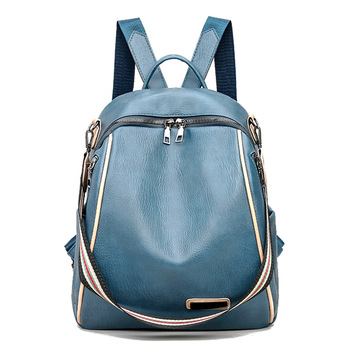 2020 Women Leather Backpacks Vintage Female Shoulder Bag Sac a Dos Travel Ladies Bagpack Mochilas School Bags For Girls 2019 classic women leather backpacks for girls sac a dos female backpack college travel bagpack ladies back pack mochilas girl