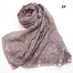 Image 3 - Новый мусульманский хиджаб 90*180 см, шарф для женщин, исламский мягкий Блестящий головной платок, женский платок, простые шали и палантины, Женский палантин