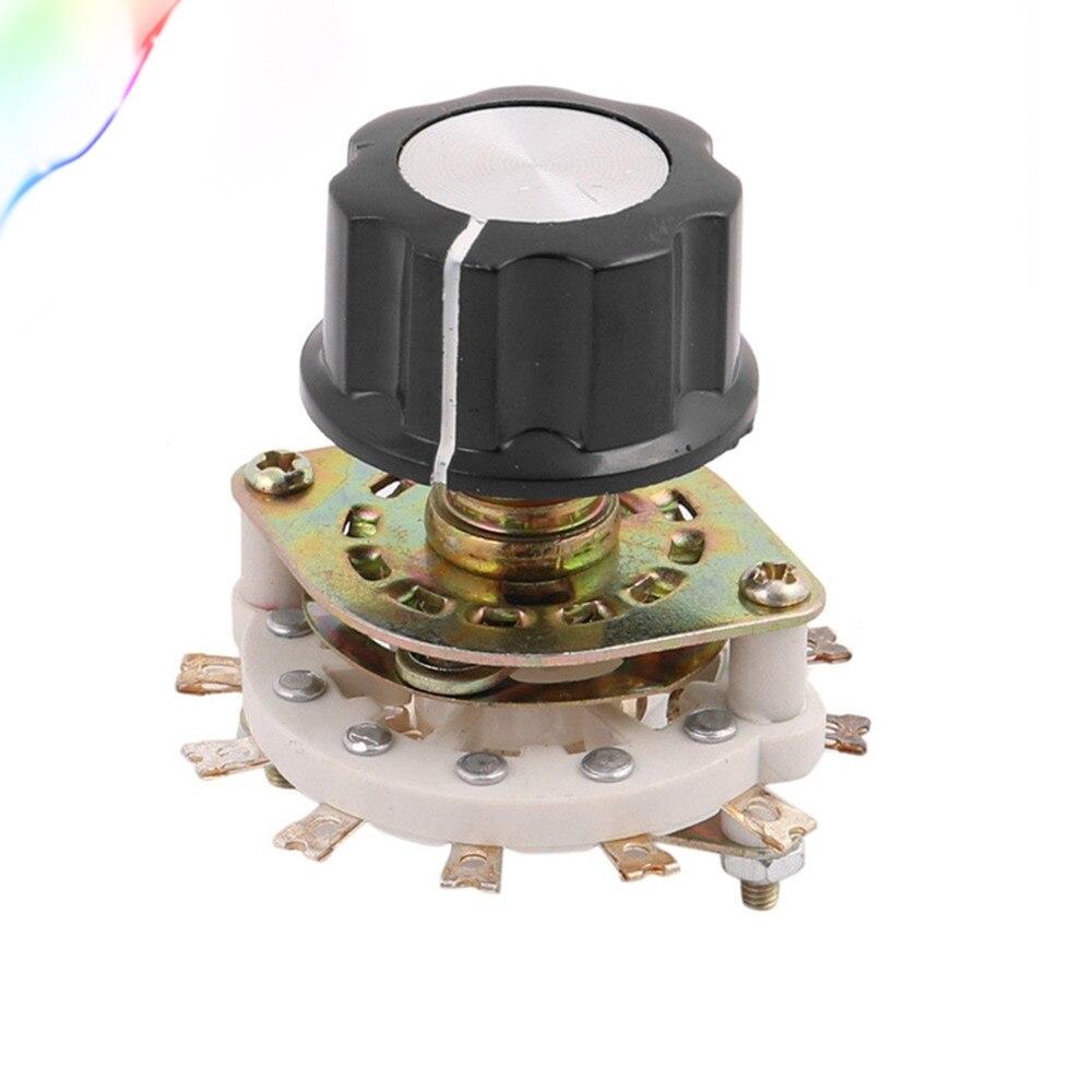 KCZ 1-полюсный 7 положение 6 мм диаметр вала Поворотный переключатель полосы канала селекторная крышка w