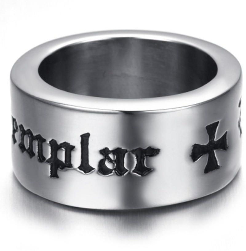 Простая модная рыцарская обувь и крест тамплиеров христианский кольцо амулет