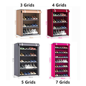 Image 5 - Multilayers נירוסטה נעל Rack הבית ארגונית עבור נעל מדף ארון אבק הוכחה ברזל מדפי עבור נעלי אחסון מדף מדף