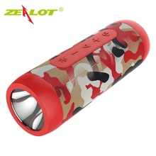 Zealot S22 Portable Speakers Wireless Bluetooth Speaker fm Radio Outdoor Subwoofer+Flashlight+Power Bank,Support TF Card,AUX