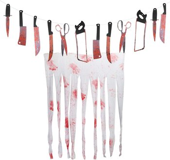 metable 10sets Bloody Doorway Curtain Zombie Vampire Party Decoration Haunted House Spooky Entertainment halloween Themed Party