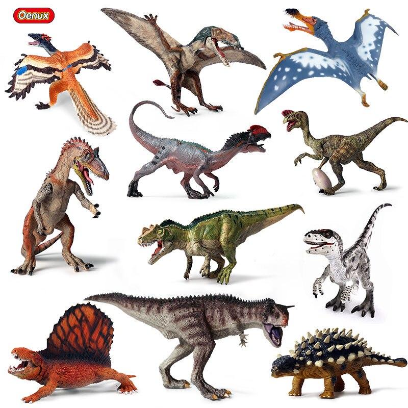 Oenux Original Jurassic Dinosaur Model New Ankylosaurus Cryolophosaurus Pterosaur Dinosaur Animals World Action Figures Kids Toy