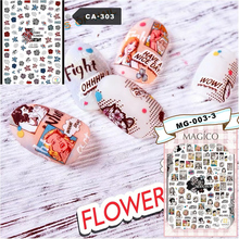 Newest CA-303-306 lily Cartoon characters 3d nail art sticker nail decal stamping export japan designs rhinestones  decorations