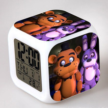 Five Nights At Freddy's 4-Relojes Led, Fnaf World, Freddy fasbear, oso, atrevido, Bonnie, Chica Despertador, reloj Despertador, figura, juguetes, muñeca