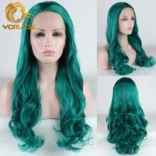 Yomagic-perruque synthétique avec ligne de cheveux naturelle, cheveux longs ondulés, cheveux naturels, sans colle, Cosplay abordable