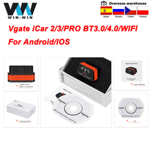 Vgate ELM327 V2.1 iCar2 WIFI Bluetooth iCar3 ELM 327 V2.1 for IOS/Android iCar Pro Auto Scanner obd obd2 Car Diagnostic Tool