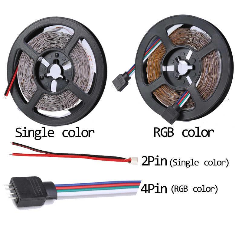RGB 300 LED Strip Light 5 M 60 LEDs/M SMD 2835 สีขาวสีแดงสีเขียวสีน้ำเงิน LED 12V กันน้ำเชือกเทปยืดหยุ่น STRIPE