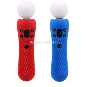 Image 5 - IVYUEEN 2 sztuk antypoślizgowe silikonowe etui gumowe skóra ochronna Case dla PlayStation PS VR Move sterownik ruchu czarny niebieski czerwony