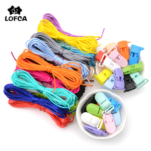 LOFCA Colorful Nylon Cord Baby Teether Pacifier Clip Accessories DIY For Teething Necklace Jewelry Pendant Making
