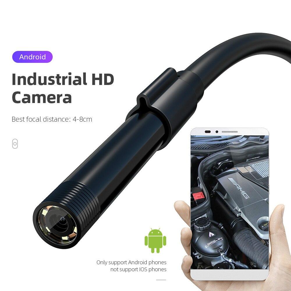 Hot Selling 5.5mm Car Endoscope Camera IP67 Waterproof 6 LED Borescope Auto Pipe Inspection Camera USB Vehicle Testing Tool