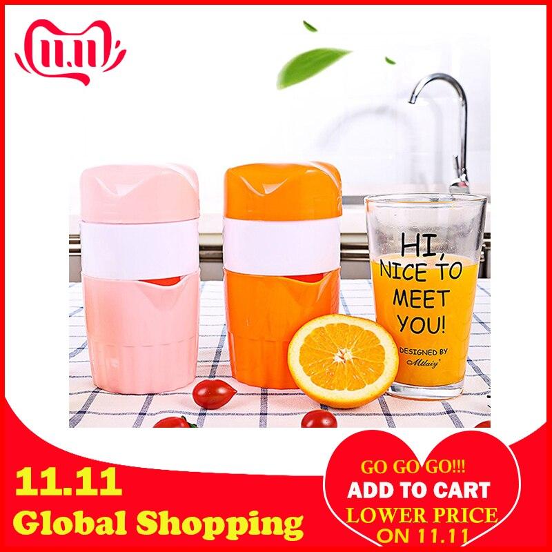 Hot Portable 300ml Manual Citrus Juicer For Orange Lemon Fruit Squeezer Original Juice Child Healthy Life Potable Juicer Blender