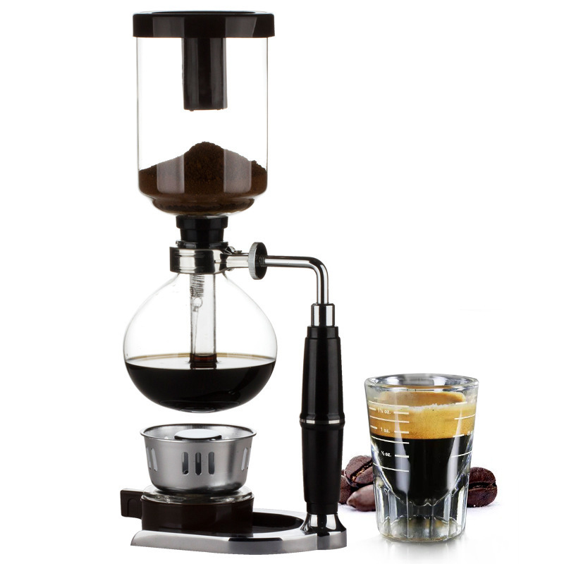 Japanese Style Siphon Coffee Maker Tea Siphon Pot Vacuum Coffeemaker Glass  Type Coffee Machine Filter 3cup 5cups