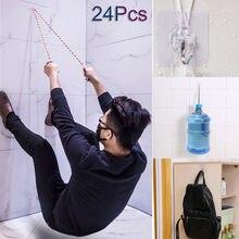 Yeni 24 Adet Güçlü Vantuz Dikişsiz Emiş Duvar Kancaları Askı Mutfak Banyo Yapışkanlı Kanca Olmadan Delme 19SEP19