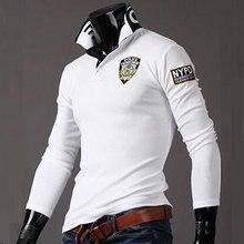 ZOGAA-camisetas Polo transpirables de manga larga para hombre, Polos informales con estampado de letras y cuello vuelto