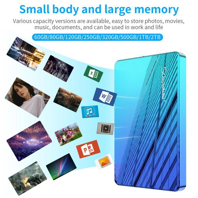 ABS color HDD 2.5 1TB external hard drive 1TB 2TB storage device hard drive for computer portable HD 1 TB USB 3.0 4
