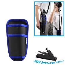 Selens 블랙 허리 가방 케이스 파우치 D 링 스트랩 Monopod Unipod 삼각대 용