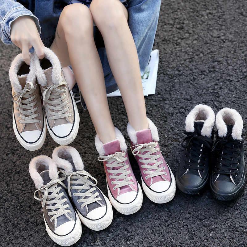Düz yarım çizmeler Kadınlar için Kış Moda Trendleri Yüksek Üst Kısa Peluş siyah çizmeler Platformu Kar Botları Kadınlar için Pembe Ayakkabı