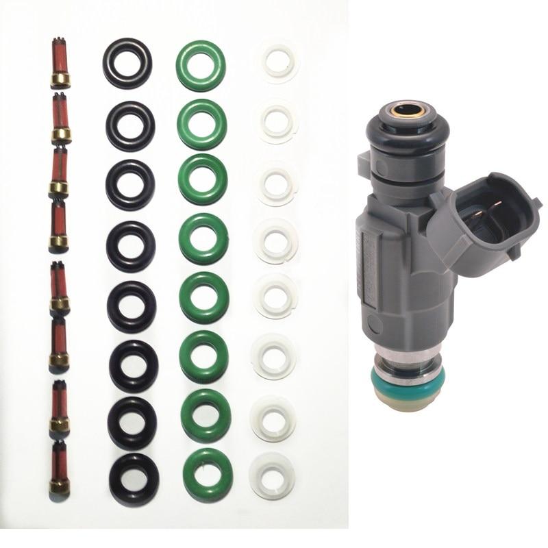 8 مجموعات حاقن وقود طقم تصليح وخدمة مجموعات صالح لنيسان إنفينيتي 2000-04 حاقن وقود 16600-5L700 166005L30 AY-RK010