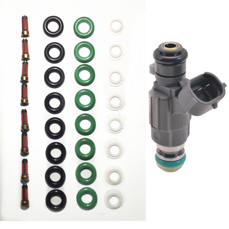 8set di carburante iniettore kit di riparazione e servizio di kit fit per Nissan Infiniti 2000-04 Iniettore di Carburante 16600-5L700 166005L30 AY-RK010