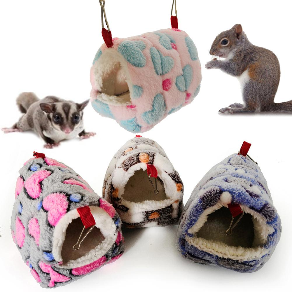 Hamster Squirrel Warm House Guinea Pig Nest Small Animal Pet Bed Sleeping Bag  Soft Dog Kennel Dog Bed Cat House Puppy Pet Bed