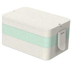 Pudełko na lunch dla dzieci i dorosłych z łyżeczką widelec pojemniki na żywność pudełko Miniwave bezpieczne i przechowywanie żywności pojemnik na sałatkę Food Grade Whe|Pudełka śniadaniowe|   -
