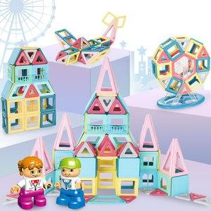 Image 2 - 2019 yeni Macaron renk manyetik bloklar oyuncaklar çocuklar için mıknatıs yapı taşları seti tasarımcı eğitim tuğla manyetik oyuncak