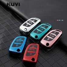 Карбоновый ТПУ чехол для автомобильного ключа с 3 кнопками, чехол с полным покрытием для Peugeot Citroen C1 C2 C3 C4 C5 DS3 DS4 DS5 DS6, аксессуары для автомобил...