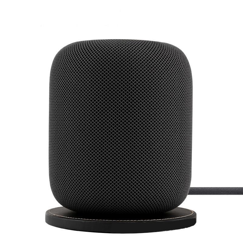 Anti slip Leather Base Pad for Apple Homepod Bluetooth Speaker Waterproof Leather Pad Portable Speaker Pad Speaker Accessories     - title=